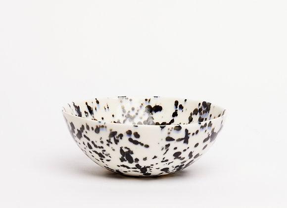 bowl black splatter