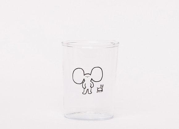 """""""big ears guy and dog"""" glass"""