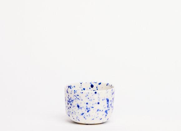 small cup blue splatter
