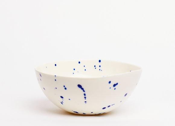 bowl blue splatter