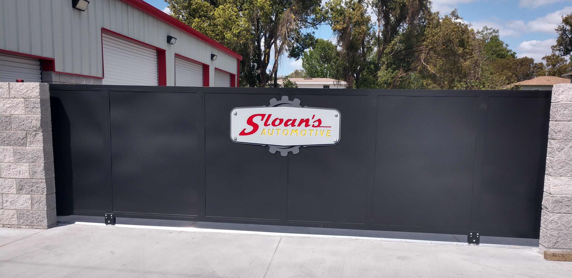 Sloans Auto Driveway Gate