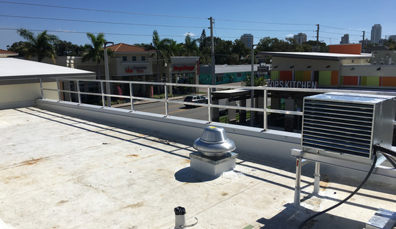 Rubio's Rooftop Knee Wall Guard Rail
