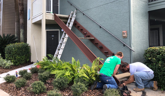 Apartment Complex Stair Install