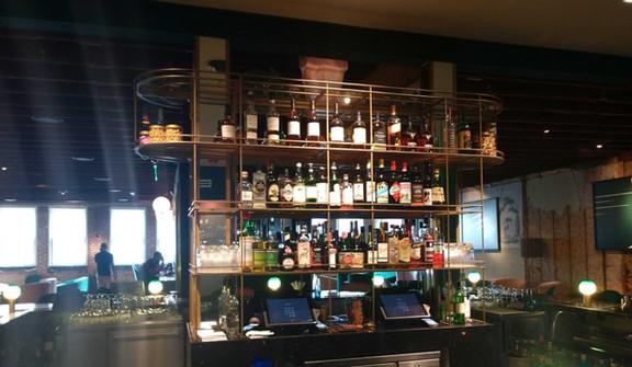 Robinson Room Liquor Shelves