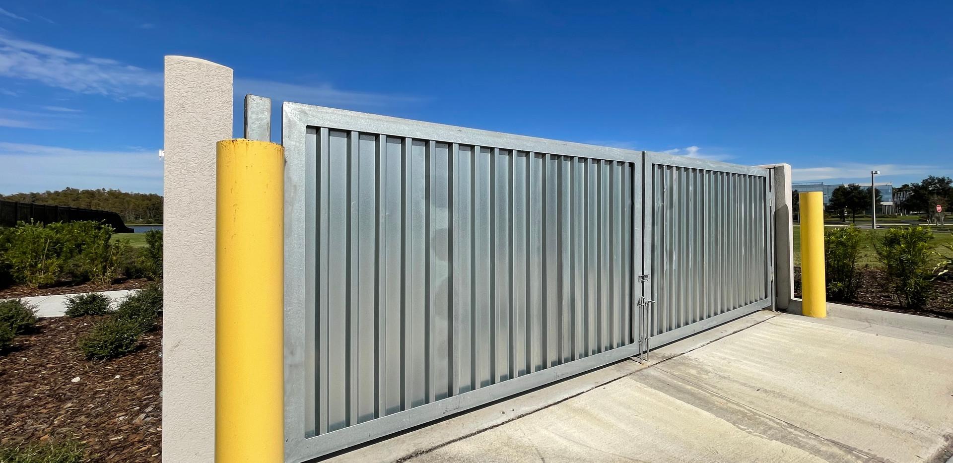 DPR Galvanized Dumpster Gates
