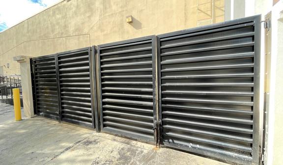 Brixmor Double Dumpster Gates