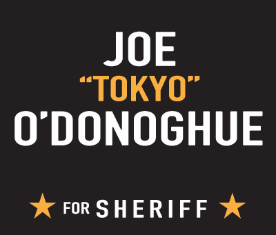 """Atlantic County Republican Sheriff Candidate Joe """"Tokyo"""" O'Donoghue draws a line in the sand"""
