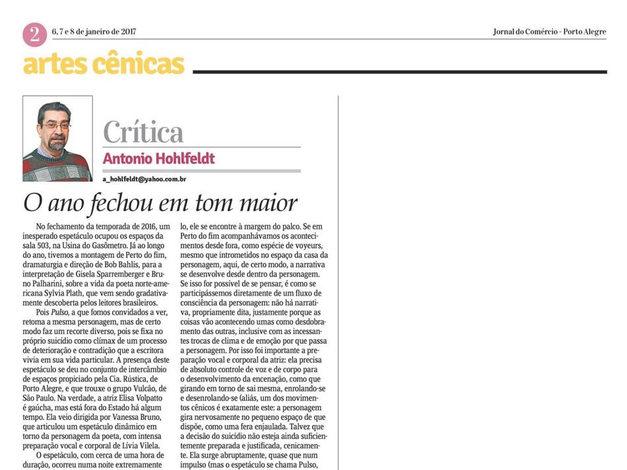 Crítica - Antônio Hohlfeldt