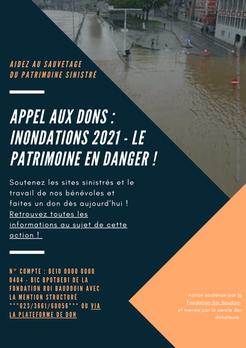 Soutenir le patrimoine touché par les inondations de juillet 2021
