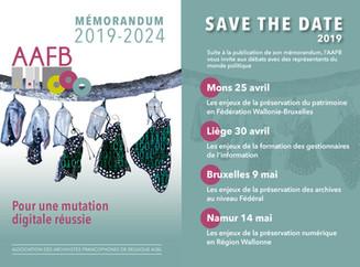 Save the date : débats en Wallonie et à Bruxelles