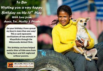 Birthday Charity Ecard