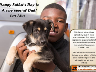 Animal Loving Father's Day e-card