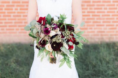 wedding flowers, burgundy bridal bouquet, fall bouquet