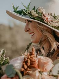 succulents, desert, hat