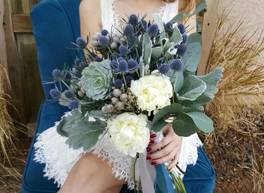 Wedding floral, succulent and greenery