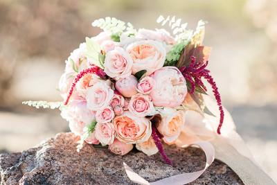 wedding florals, pinks