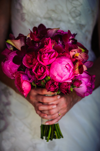 wedding floral, pink, roses