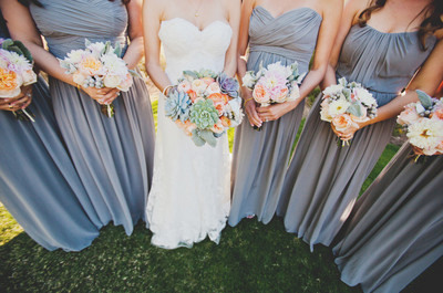 wedding floral, succulents and flowers