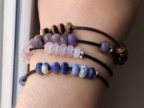 Leather & Gemstone Leather Bracelets