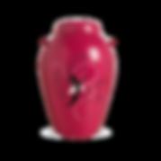 handmålad rosa urna