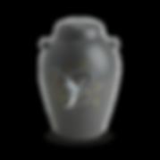 handmålad grå urna