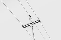 power lines for electricity supply