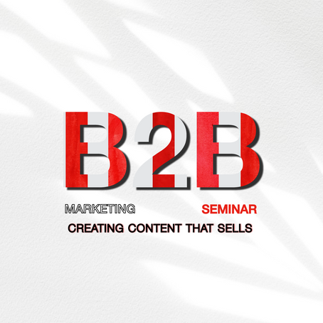 18th of October Zagreb B2B marketing seminar: Creating content that sells