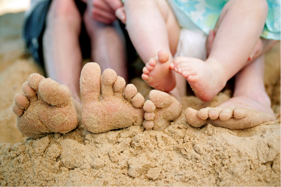 Family with healthy feet