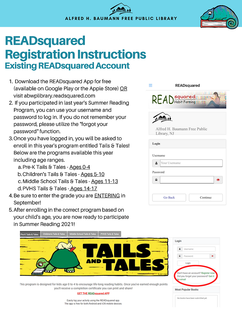 READsquared Instructions - Registration