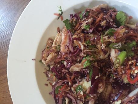 Eat: Shredded Asian chicken salad