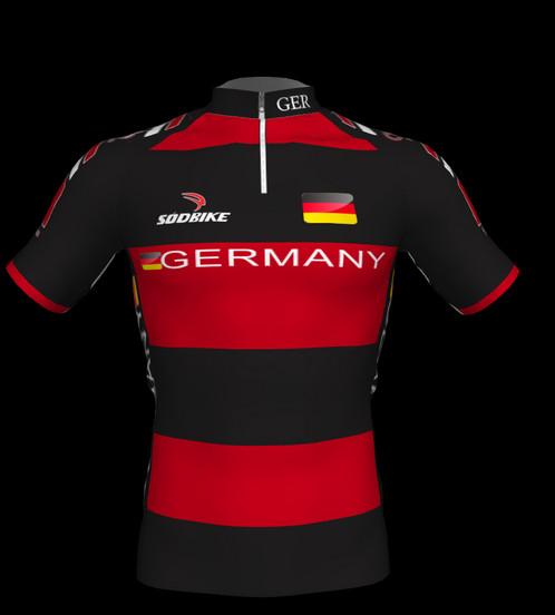 86a165f140fc9 Camisa Ciclismo ALEMANHA Vermelha