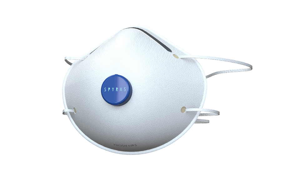 First render of the Spyras Smart facemask.