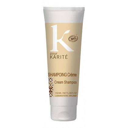 shampoing crème k pour karité, cheveux secs et frisés, double-u cosmetics, ile de la réunion
