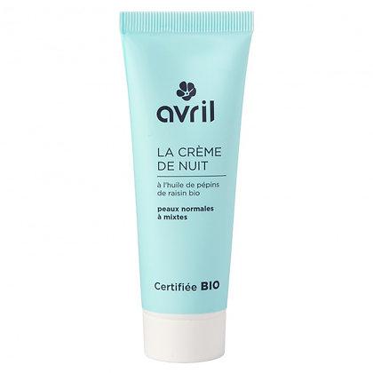 Crème de Nuit Peaux Normales & Mixtes 50ml - certifié bio-Avril