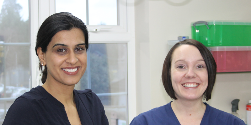Our Orthodontist, Sharan Gill with Nurse, Kim