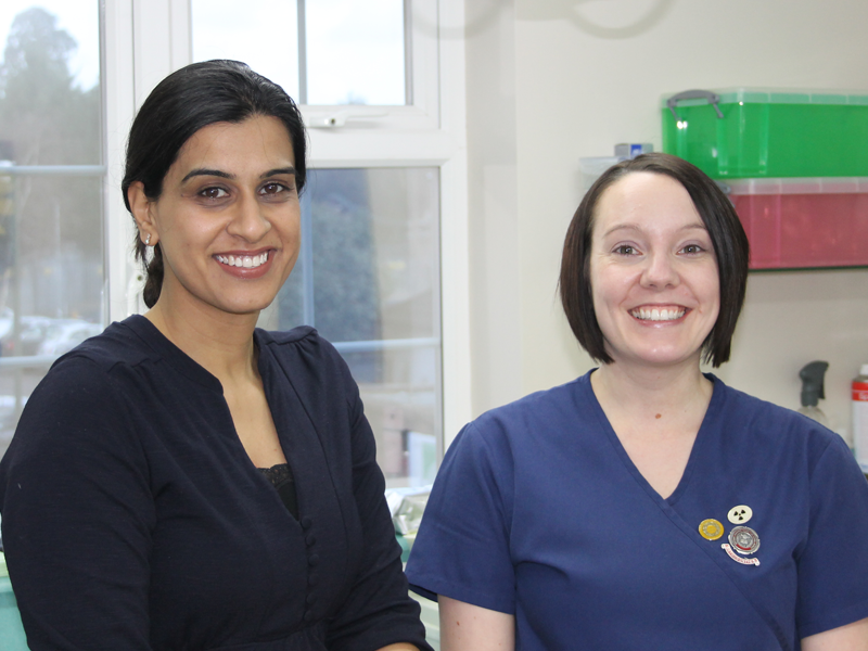 Our Orthodontist, Sharan Gill with Nurse, Kim