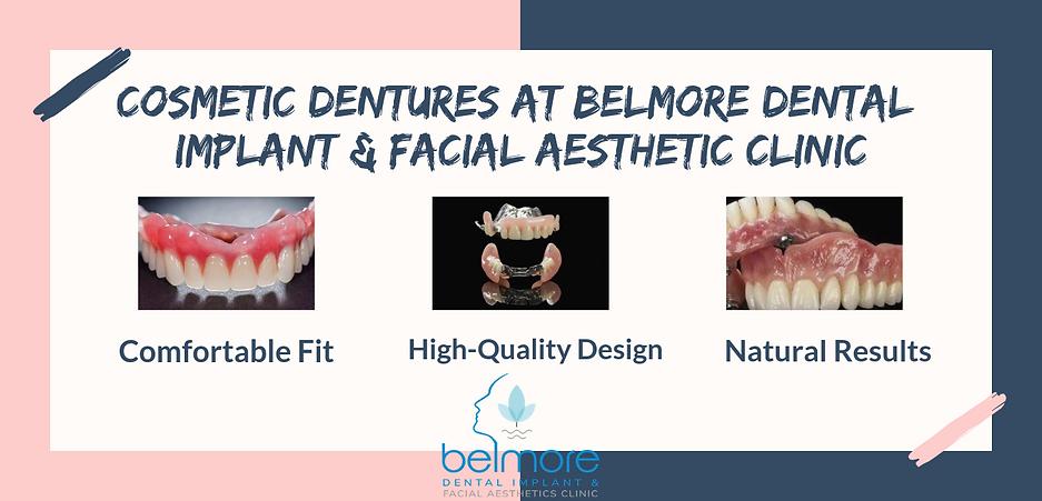 Cosmetic Dentures at Belmore dental impl