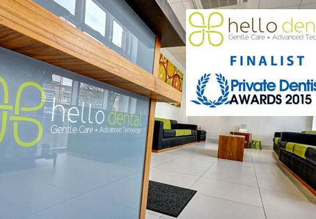 Hello Dental is a Finalist in four categories at the Private Dentistry Awards 2015