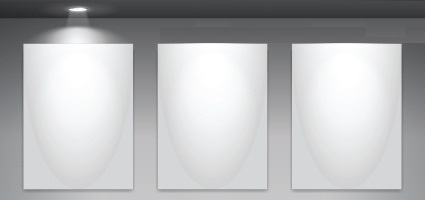 set-of-empty-gallery-wall-with-lights-background-106758