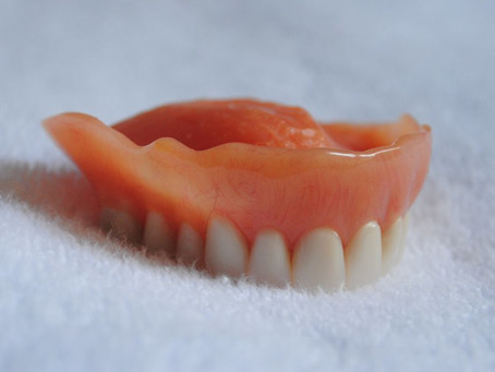 Keeping a denture or bridge clean
