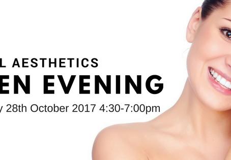 Facial Aesthetics Open Evening