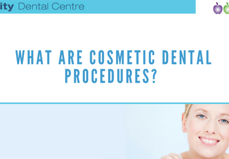 What are cosmetic dental procedures?