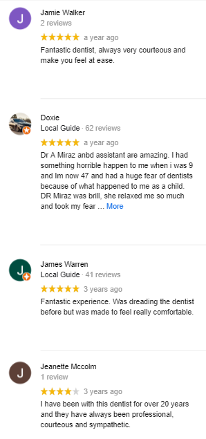 campbell dental practice google reviews