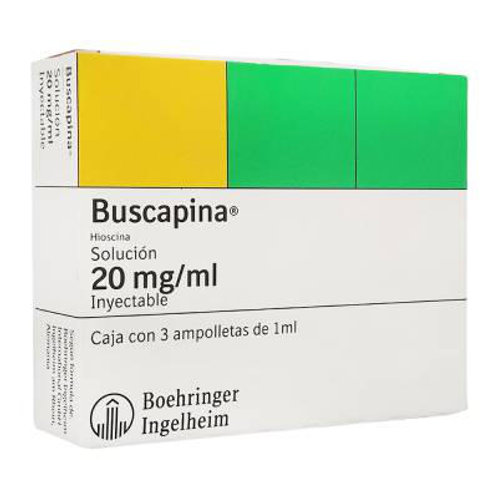 BUSCAPINA  INYECTABLE  AMPOLLETAS 1ML C3