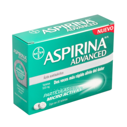 ASPIRINA ADVANCED 500MG TABLETAS  C20