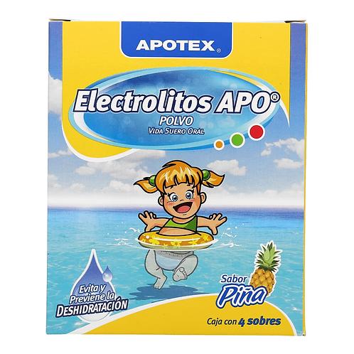 ELECTROLITOS APO POLVO PINA C/4