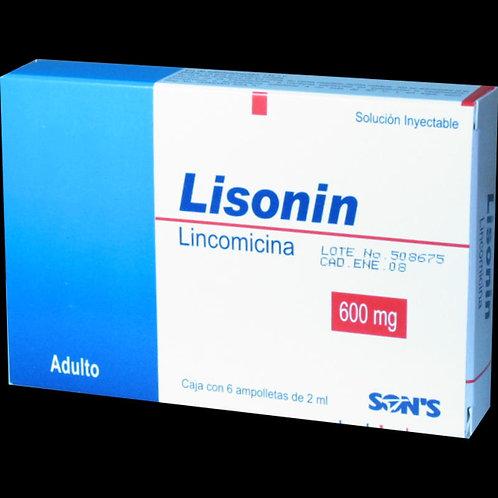 LISONIN  INYECTABLE  600MG C/6