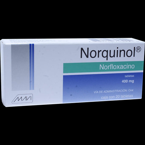 NORQUINOL  GRAGEAS 400MG C/20