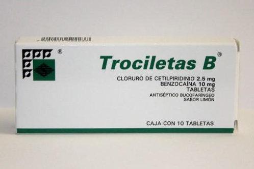 TROCILETAS-B LIMON TABLETAS  C/10