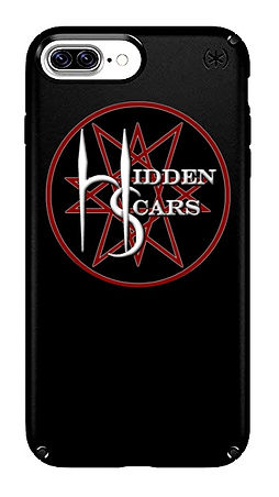 Alternative Style Clothing and Apparel for Electro Goth Sludge Metal Hard Rock Band Hidden Scars. Pentagram 10 Point Star Logo Black Phone Case.
